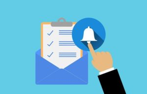 Email Alert Report Document Hand