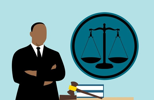 Lawyer Judge African Cartoon Man
